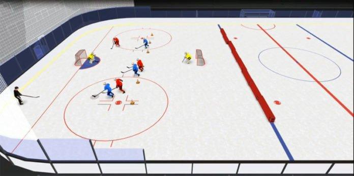 U8 tactic 3 on 3 hockey drill
