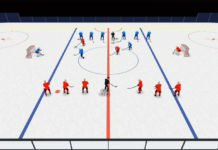 2 on 1 mid ice hockey drill