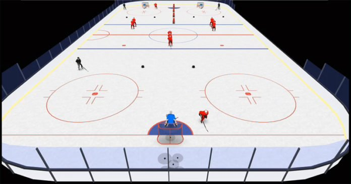 1 on 1 scoring under pressure hockey drill