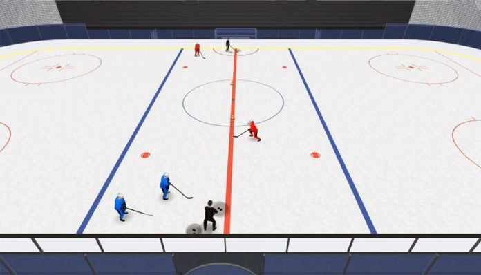 D Big 8 Four Pass hockey drill