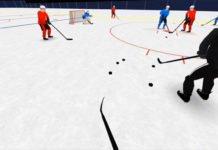 hand grenade hockey drill