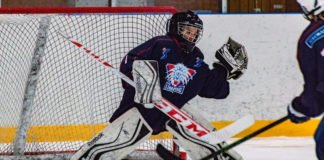 youth hockey goalie