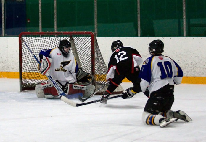 youth hockey players in tournament