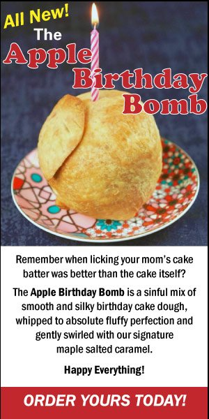 Apple Birthday Bomb ad