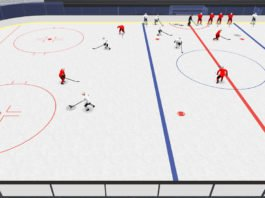 get open 2-on-1 hockey drill