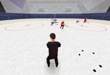net-front play hockey drill